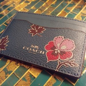 New Coach leather card case